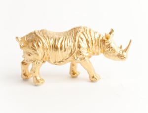 Gold Table Top Rhino