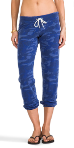 Monrow Camo Vintage Sweats in Dusty Blue.