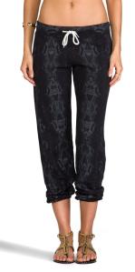 Monrow Snakeskin Vintage Sweatpants in Neptune.
