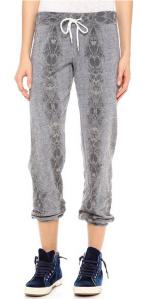 Monrow Snakeskin Vintage Sweatpants in Dark Heather.